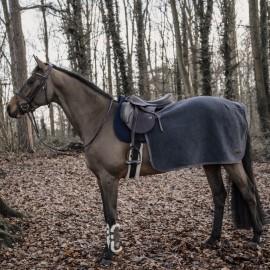 Kentucky Horsewear Couvre Reins Carré Heavy Fleece - Gris