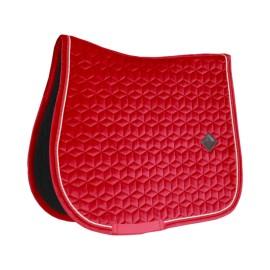PRECOMMANDE - Kentucky Horsewear - Tapis de CSO Velvet - Rouge