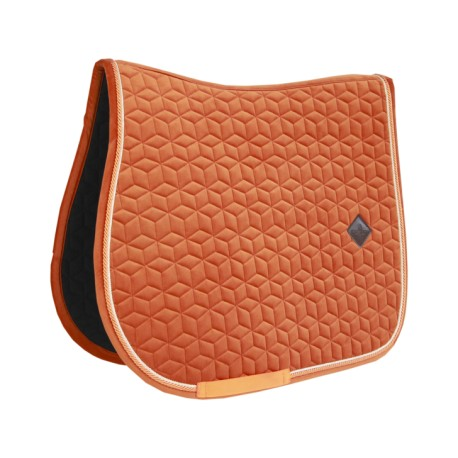 PRECOMMANDE - Kentucky Horsewear Tapis de CSO Velvet - Orange