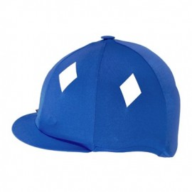 Toque de cross lycra bleu royal avec losanges blancs